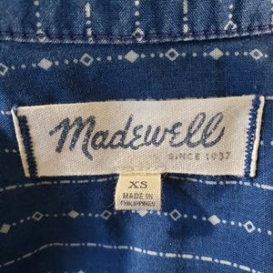 Madewell Tops - Madewell Sleeveless Printed Chambray Top